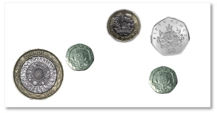 example of some british coins