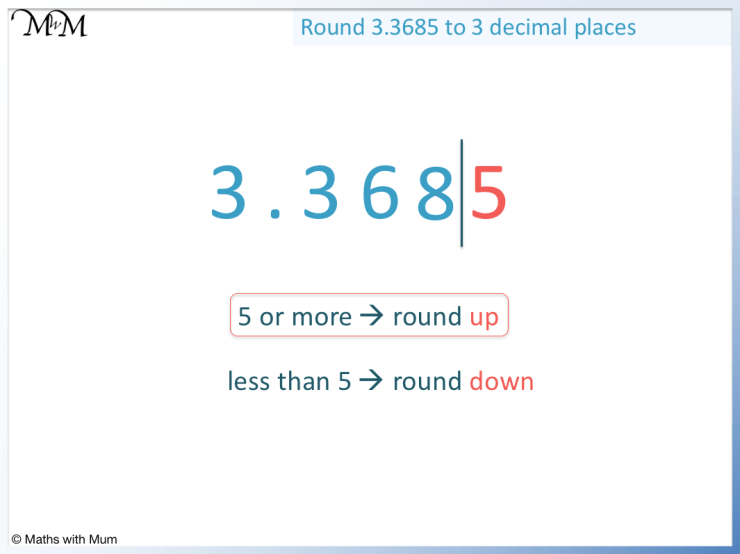 example of rounding a decimal to 3 decimal places