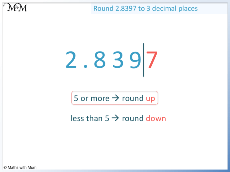 how to round a decimal with a 9