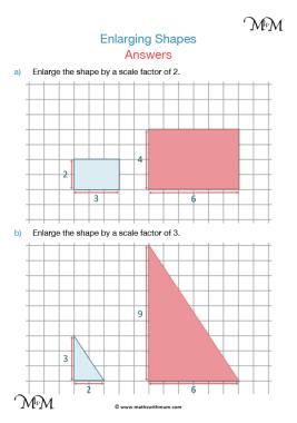 enlarging shapes worksheet answers pdf