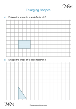 enlarging shapes worksheet pdf