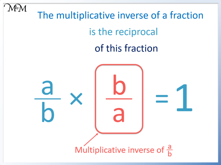 rule to find the multiplicative inverse of a fraction