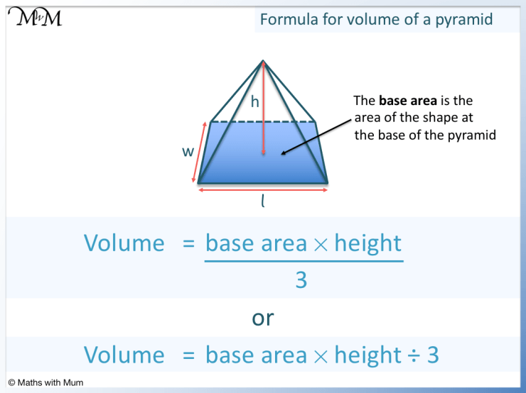 formula for the volume of a pyramid