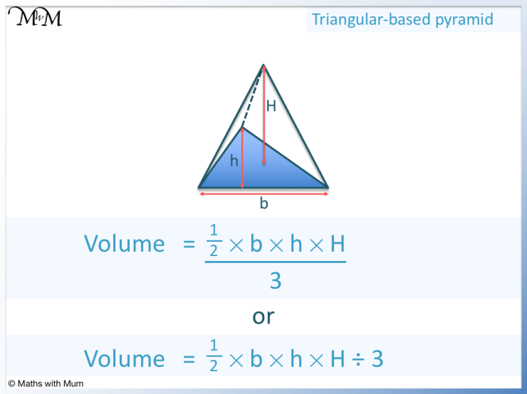 formula for volume of a triangular based pyramid