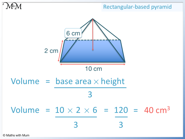 finding the volume of a pyramid example