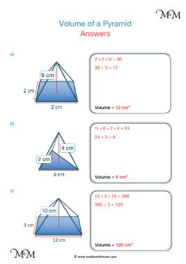 volume of a pyramid worksheet pdf answers pdf