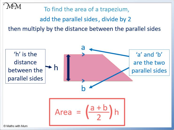 area of a trapezium formula