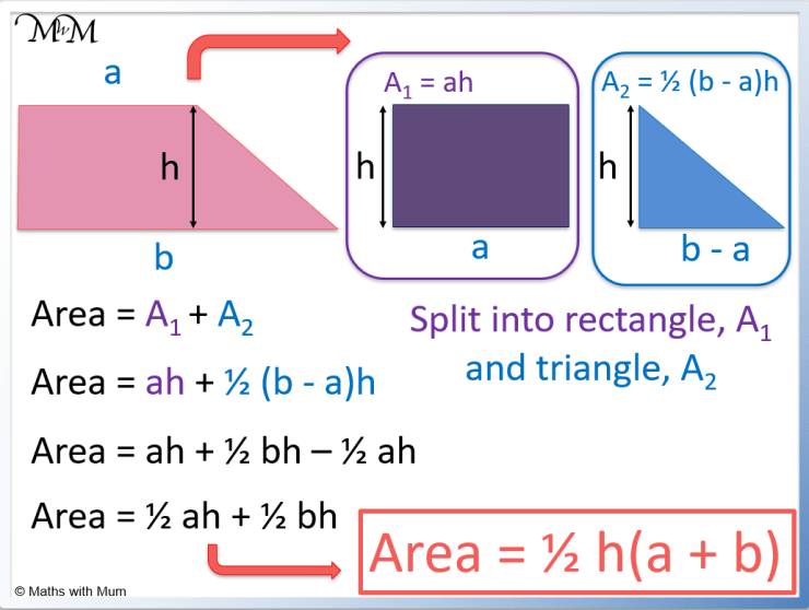 proof of the area of trapezoid formula