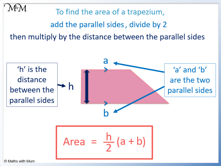 formula for the area of a trapezoid
