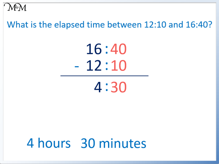 formula to calculate elapsed time