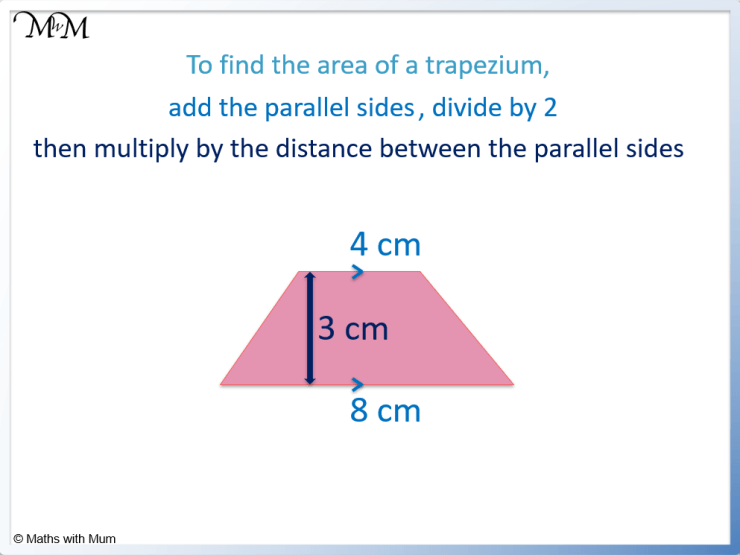 finding the area of an isosceles trapezium