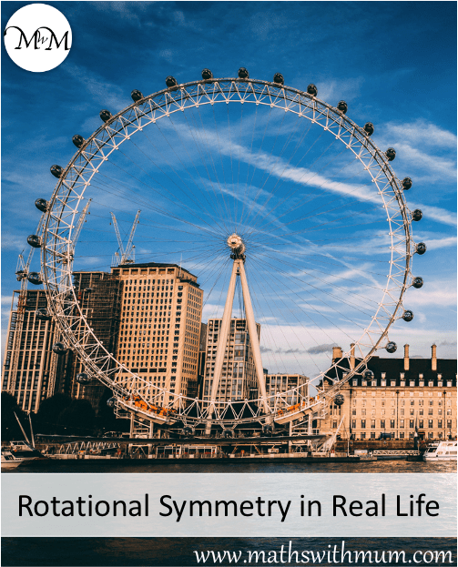 ferris wheel is an example of rotational symmetry in real life