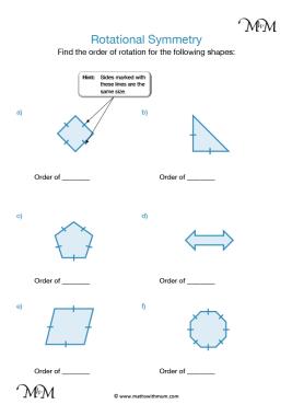 Rotational Symmetry worksheet pdf