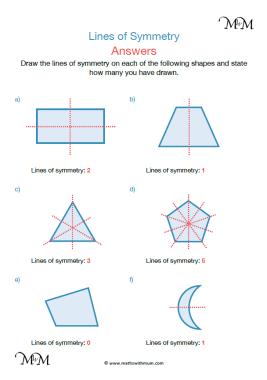 lines of symmetry worksheet pdf answers pdf