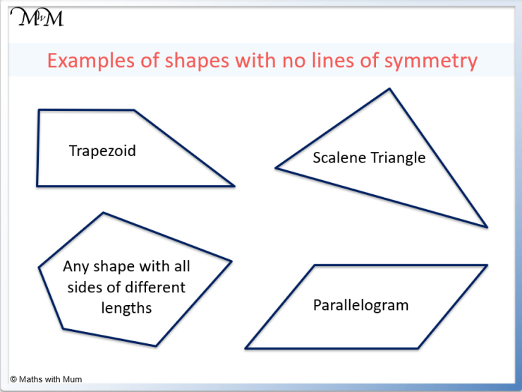 shapes with no lines of symmetry