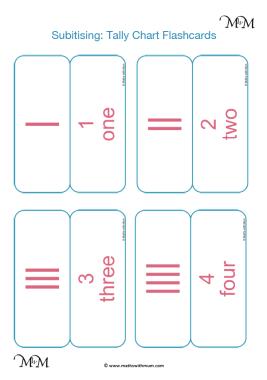 printable subitizing flashcards pdf