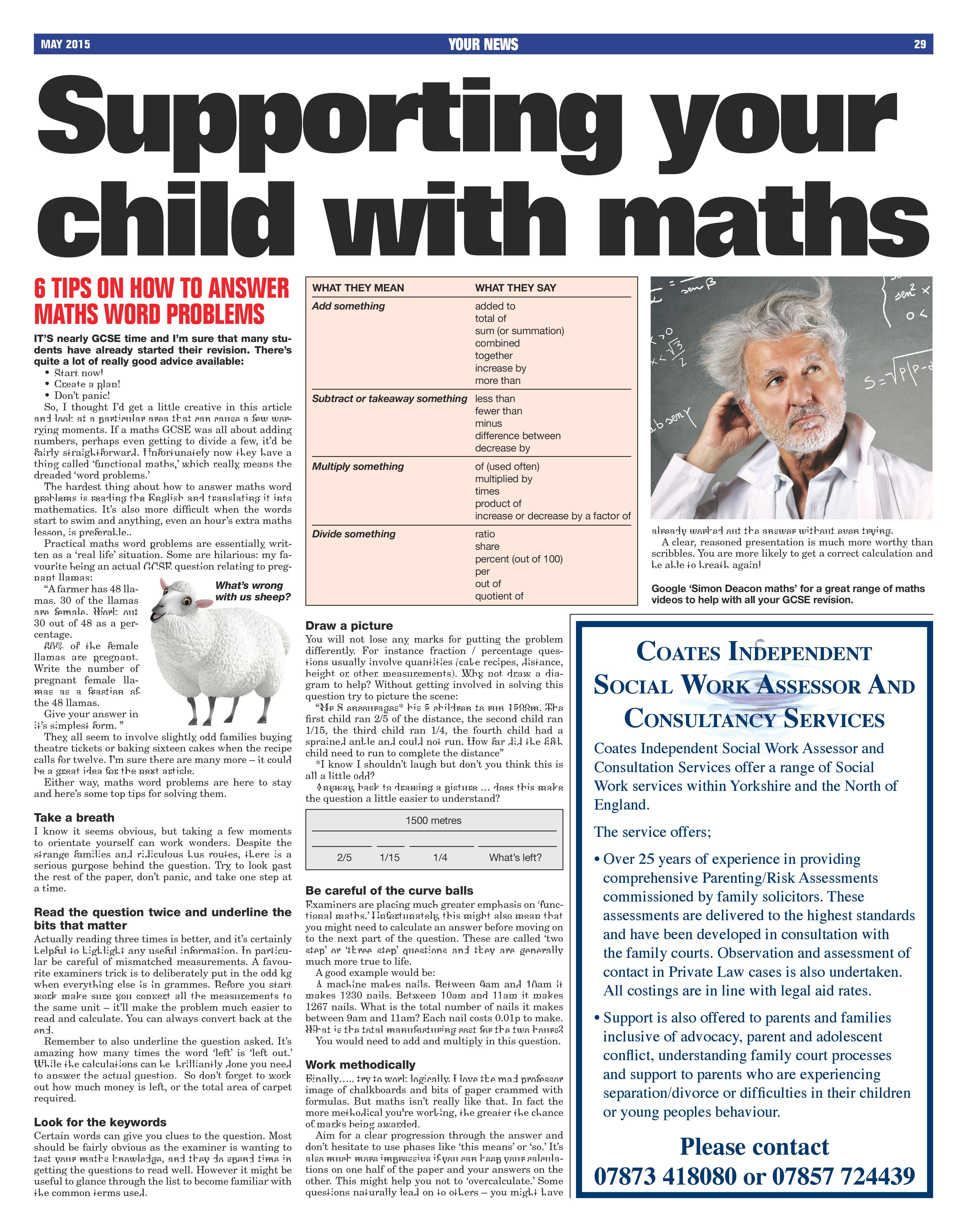 6 Tips To Support Your Child With Maths Word Problems
