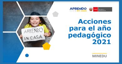 APRENDO EN CASA 2021: Acciones para el año pedagógico 2021,