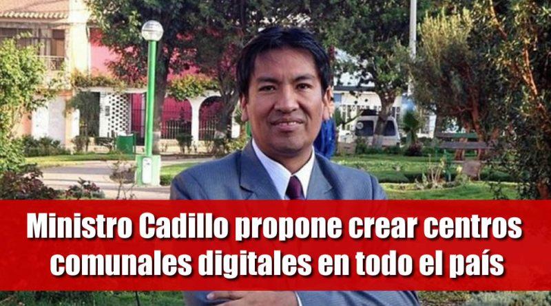 Ministro Cadillo propone crear centros comunales digitales en todo el país