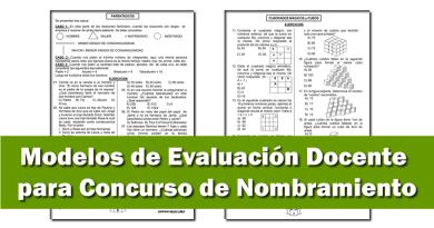 Modelos de Evaluación Docente para Concurso de Nombramiento 2021
