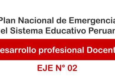 Desarrollo profesional docente.- Plan Nacional de Emergencia del Sistema Educativo.