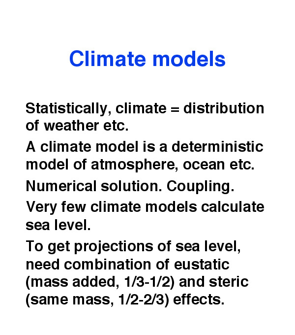 Projecting the Uncertainty of Sea Level Rise Using Climate