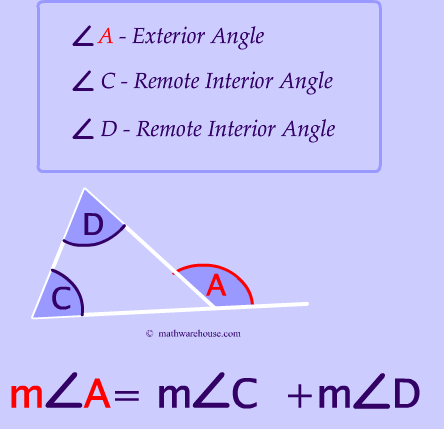 Remote Exterior and Interior Angles of A Triangle
