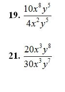 Multiplying and Dividing Monimials Worksheet (pdf) and