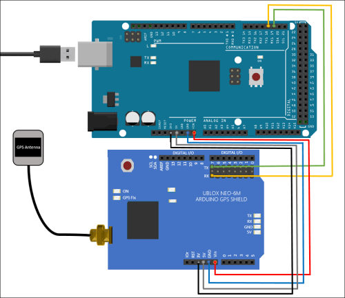 small resolution of connect the gps antenna to the gps shield