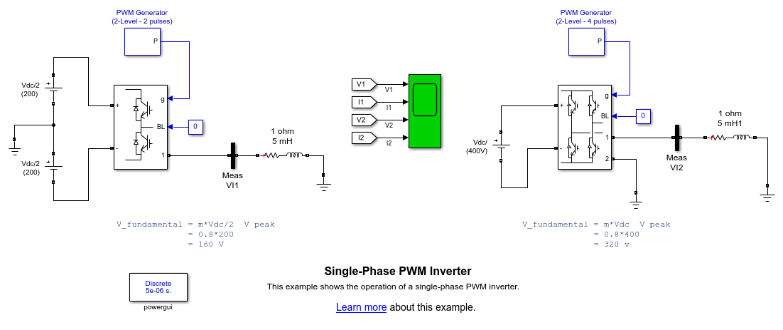 3 phase 220v wiring diagram bathroom fan with timer single-phase pwm inverter - matlab & simulink