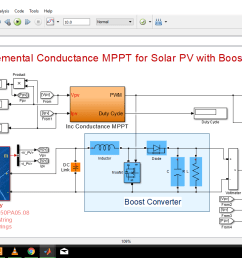 incremental conductance mppt for solar pv array with boost converter [ 1366 x 768 Pixel ]