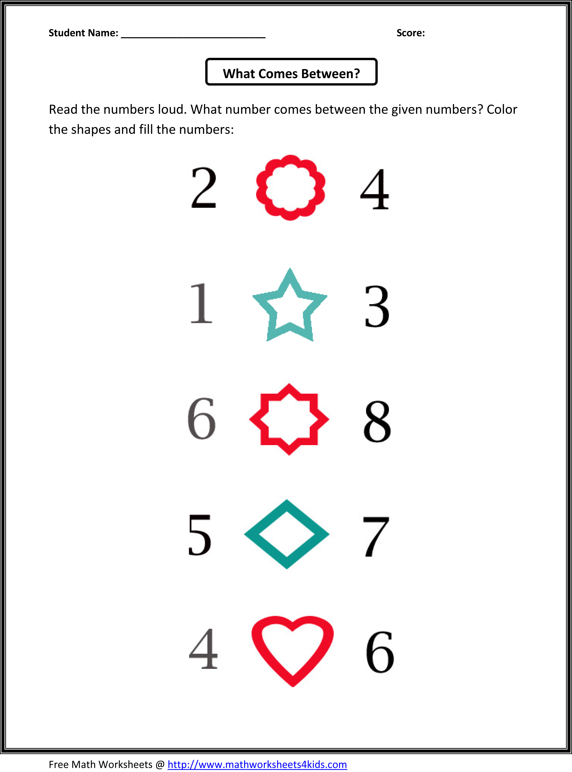 KINDERGARTEN MATH PATTERNS « Free Patterns