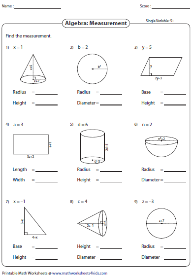 7th Grade Simplifying Algebraic Expressions Worksheets
