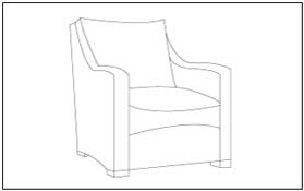 Furniture Coloring and Tracing Pages