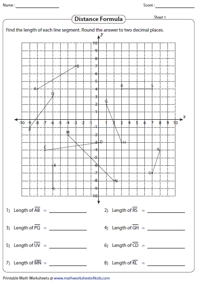 All Worksheets » Coordinate Geometry Worksheets