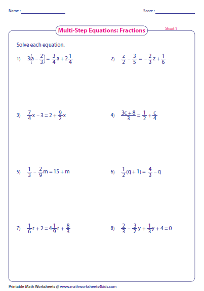 5th Grade » Multi Step Word Problems 5th Grade Worksheets