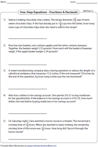 Two Step Linear Equations Word Problems Worksheet - Kidz ...