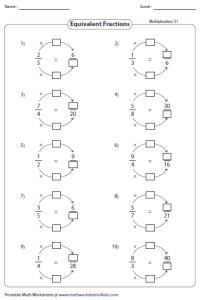 4th Grade Equivalent Fractions Worksheet - Calleveryonedaveday