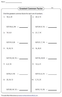 Least Common Denominator Worksheets For 5th Grade - simple ...