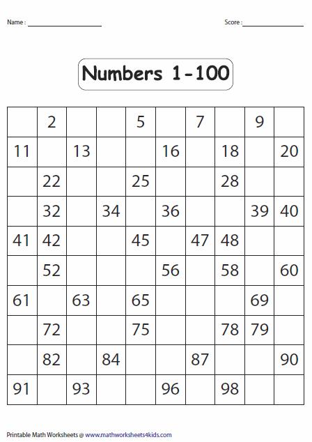 Missing Numbers Worksheets 100 200 - Allworksheet