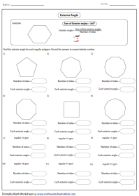 Interior Angles Polygons Worksheet | Search Results ...