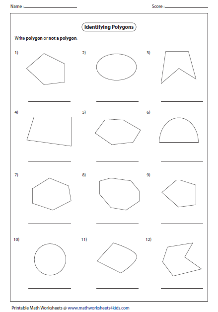 "Search Results for ""Polygon Not Polygon Worksheet"