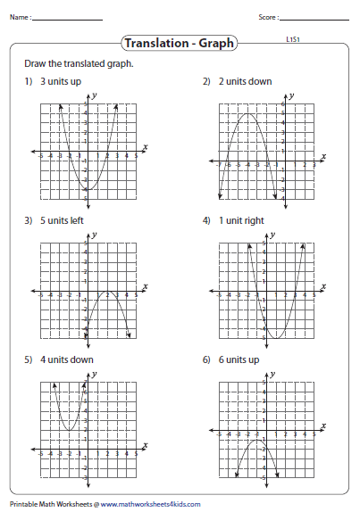 Worksheet Transformations Of Quadratic Functions Answers