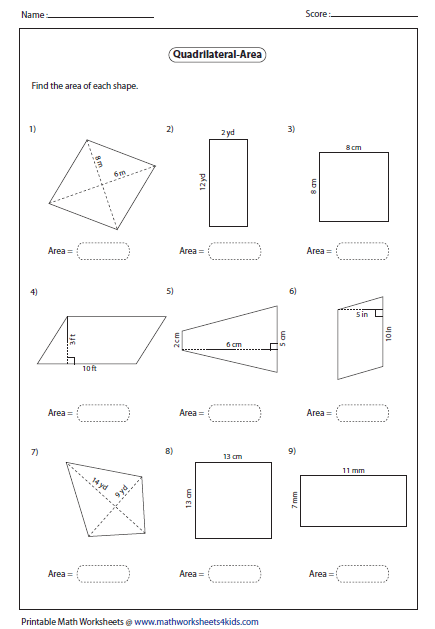 Number Names Worksheets » Rhombus Rectangle Square
