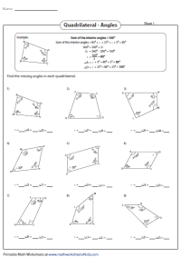 Collection of Interior Angles Worksheet - Bluegreenish