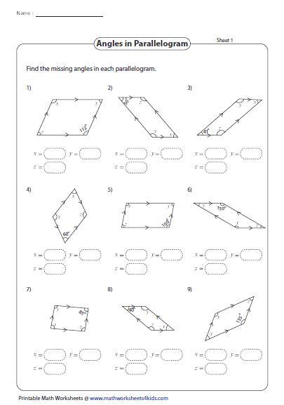 Parallelogram Shapes Worksheets - Idee per la decorazione di interni