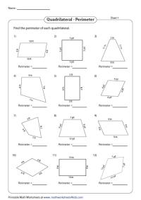 Quadrilateral Worksheets