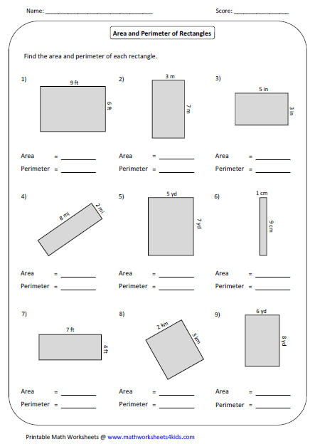 Printables. Area And Perimeter Worksheet. Messygracebook