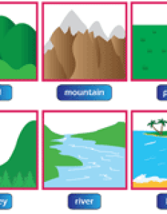 Landforms and bodies of water chart also worksheets rh mathworksheets kids