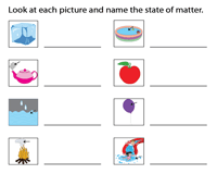 States of Matter Worksheets   Solid Liquid and Gas
